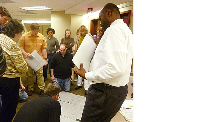 REDP Cohort 10 participants engage in a Big Picture Simulation exercise.