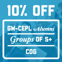 GW-CEPL Offers a 10% Discount for CEPL Alumni, Groups of 5+ and COG