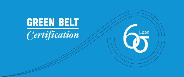 Green Belt Certification - Lean Six Sigma - text & graphic overlay