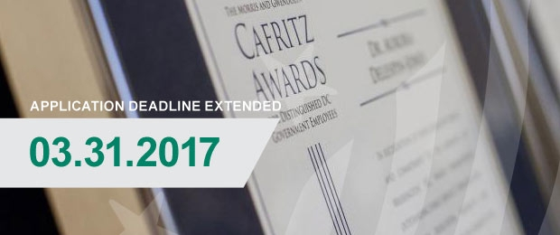 16th Annual Cafritz Awards Application Deadline Extended to March 31, 2017