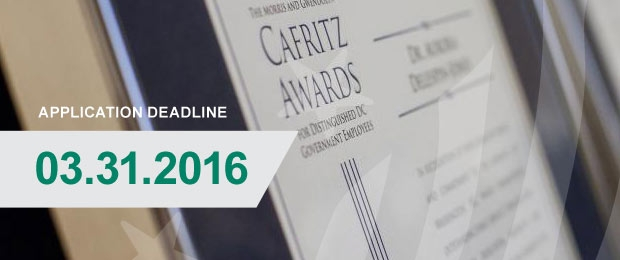 15th Annual Cafritz Awards Application Deadline March 31, 2016